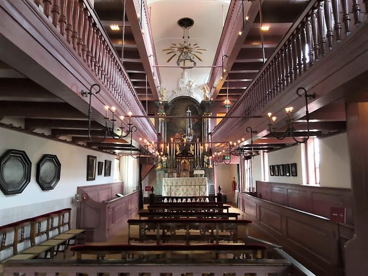 """Църквата-музей """"Our Lord in the Attic"""" в Амстердам, Нидерландия."""