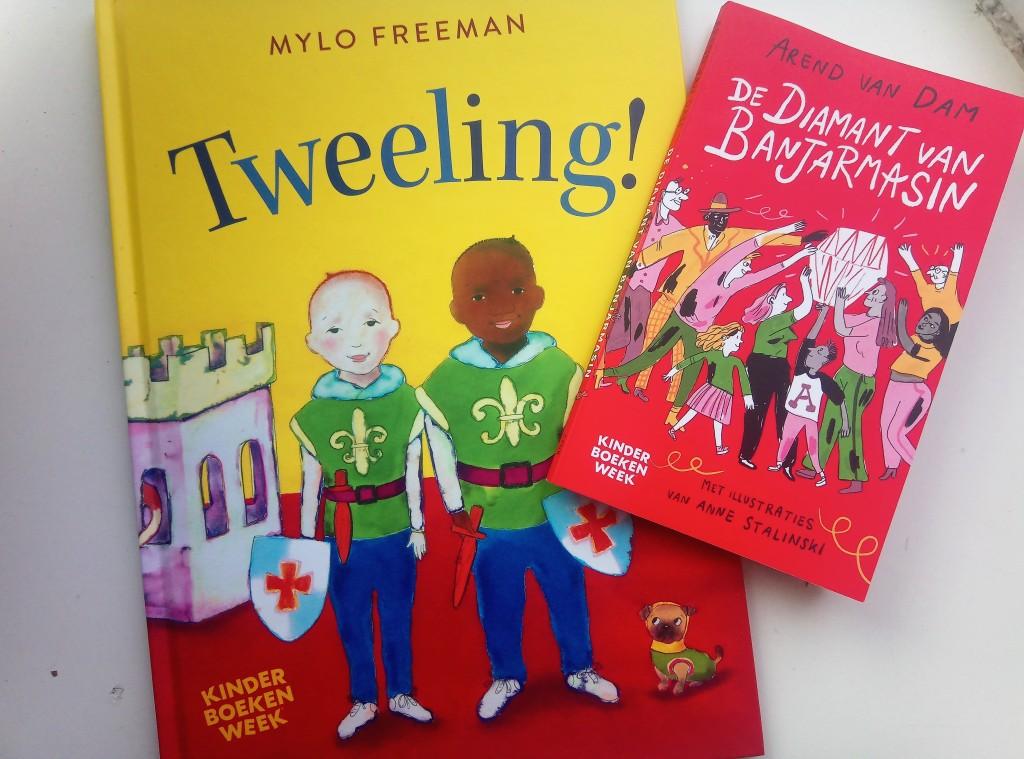 Двете книги, специално издадени за Седмицата на детската книга в Нидерландия.