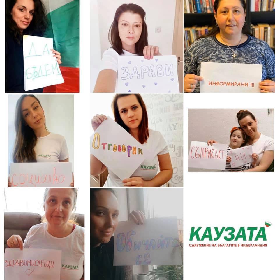 """Колаж: благотворително сдружение на българите в Нидерландия """"Каузата"""""""