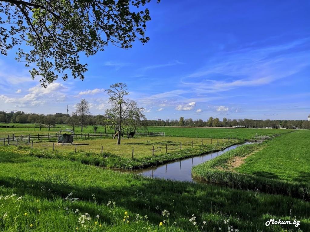 Пейзажите покрай река Амстел, Холандия