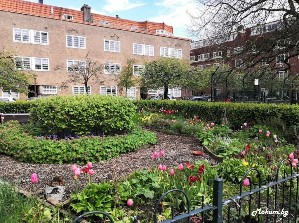 Междублоковите пространства в Холандия и квартални площадчета изглеждат така! И това не зависи само от общината, защото самите живущи с удоволствие засаждат, украсяват и пазят чисто!